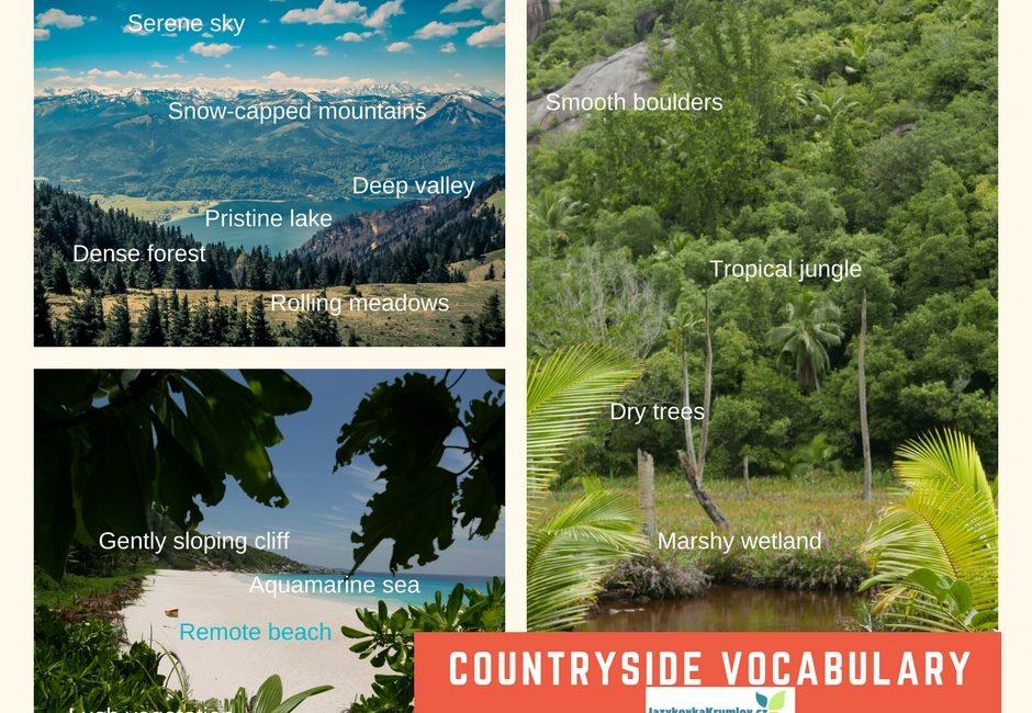 Anglická slovíčka – krajina